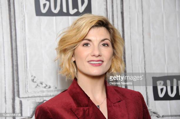 Actress Jodie Whittaker attends Build Series to discuss TV program 'Doctor Who' at Build Studio on October 5, 2018 in New York City.