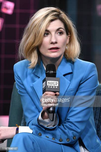 "Actress Jodie Whittaker visits the Build Series to discuss Season 12 of the BBC America series ""Doctor Who"" at Build Studio on January 06, 2020 in..."