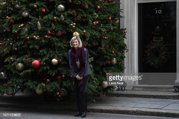 Actress Jodie Whittaker who plays Dr Who poses outside Number 10 Downing Street ahead of the children's party hosted by Chancellor of the Exchequer...