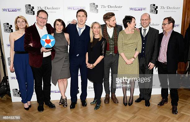 Actress Jodie Whittaker writer Chris Chibnall actors Vicky McClure Andrew Buchan Chief Executive of Kudos Jane Featherstone actors Arthur Darvill...