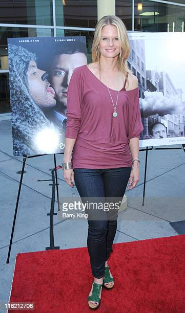 Actress Joelle Carter arrives at FX Network premiere of Wilfred and season two launch of Louie at ArcLight Hollywood on June 20 2011 in Hollywood...