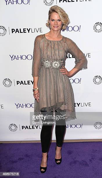 Actress Joelle Carter attends An Evening With FX's Justified presented by The Paley Center for Media at The Paley Center for Media on April 8 2015 in...