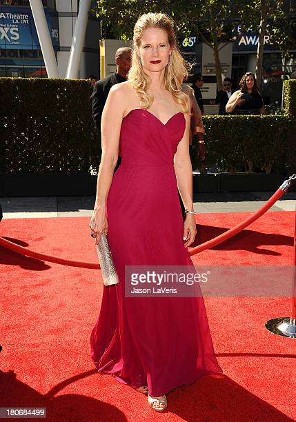 Actress Joelle Carter attends the 2013 Creative Arts Emmy Awards at Nokia Theatre LA Live on September 15 2013 in Los Angeles California