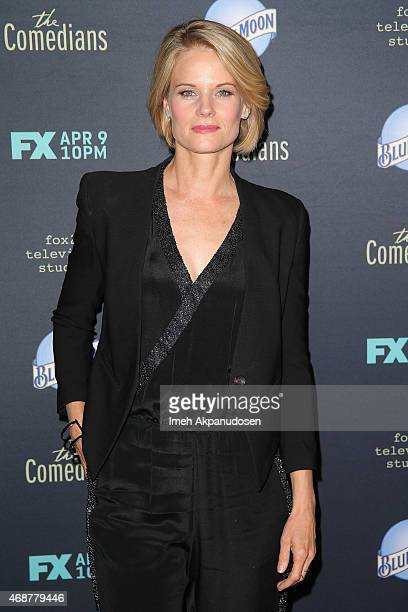 Actress Joelle Carter attends the premiere of FX's 'The Comedian' at The Broad Stage on April 6 2015 in Santa Monica California