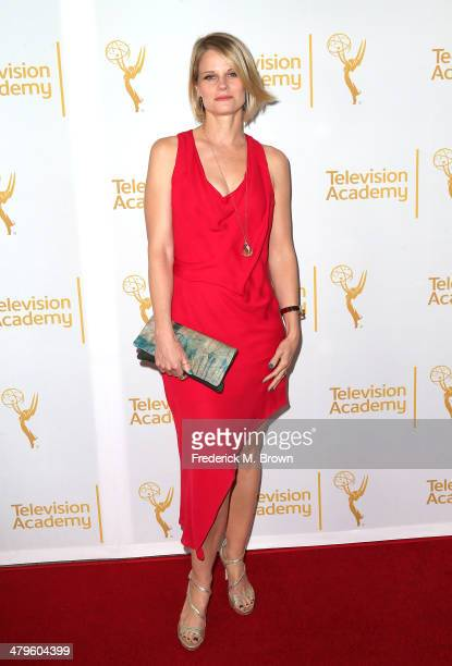 Actress Joelle Carter attends The Television Academy Presents an Evening with Justified at the Leonard H Goldenson Theatre on March 19 2014 in...