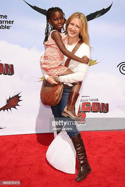 Actress Joely Fisher and daughter Olivia Luna FisherDuddy attend the premiere of How To Train Your Dragon 2 at Regency Village Theatre on June 8 2014...
