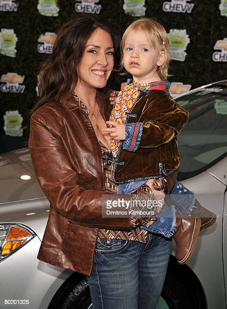 Actress Joely Fisher and daughter True Harlow FisherDuddy arrive at Chevy Rocks The Future at the Buena Vista Lot at The Walt Disney Studios on...