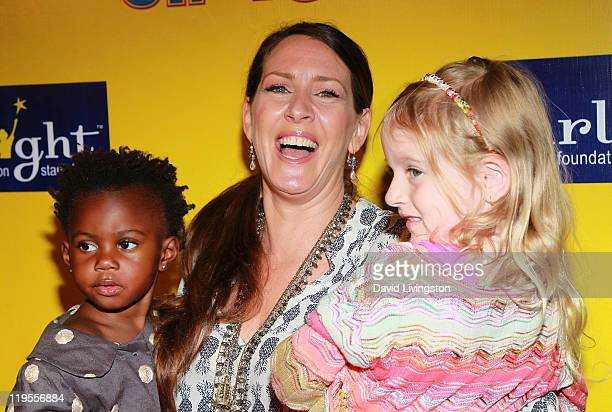 Actress Joely Fisher and daughters Olivia Luna FisherDuddy and True Harlow FisherDuddy attend Ringling Bros Barnum and Bailey Starlight Children's...
