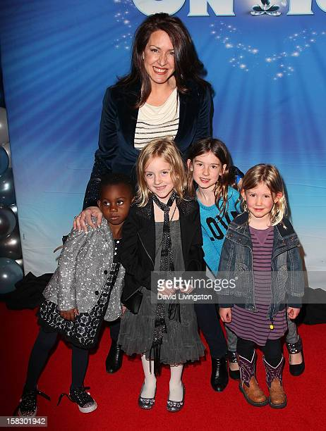 Actress Joely Fisher and daughters Olivia Luna FisherDuddy and True Harlow FisherDuddy attend the opening night of Disney On Ice's Dare To Dream at...