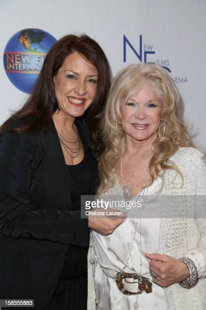 Actress Joely Fisher and director Connie Stevens attend the screening of 'Saving Grace B Jones' at ICM Screening Room on December 13 2012 in Century...