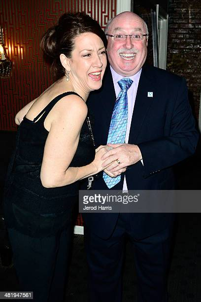 Actress Joely Fisher and IFAW President and CEO Azzedine Downes attend an evening with Azzedine Downes President and CEO of the International Fund...