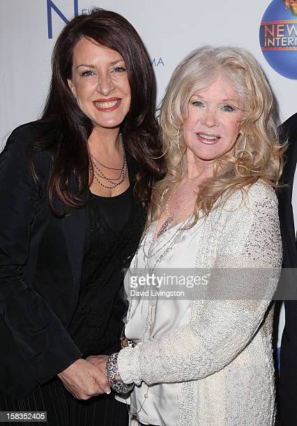 Actress Joely Fisher and mother/director Connie Stevens attend a screening of 'Saving Grace B Jones' at the ICM Screening Room on December 13 2012 in...