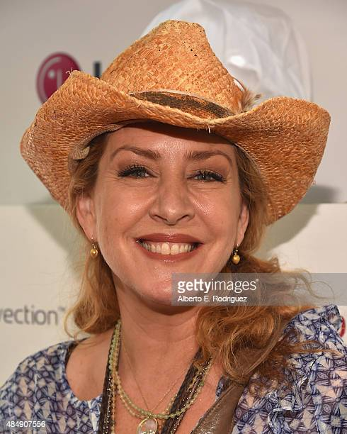Actress Joely Fisher attends Eva Longoria and LG Electronics Host 'Fam To Table' Series at The Washbow on August 22 2015 in Culver City California