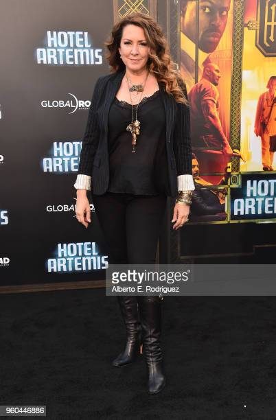 Actress Joely Fisher attends the premiere of Global Road Entertainment's Hotel Artemis at Regency Village Theatre on May 19 2018 in Westwood...