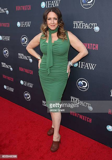 Actress Joely Fisher attends the screening of Discovery Impact's Huntwatch at NeueHouse Hollywood on September 15 2016 in Los Angeles California