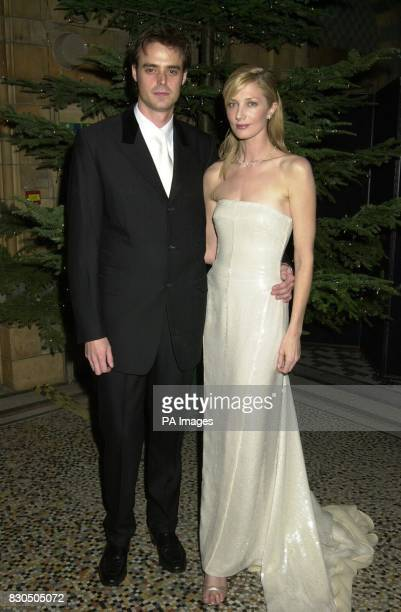 Actress Joely Richardson accompanied by television presenter Jamie Theakston attending the Festival of Trees Gala Dinner at The Natural History...
