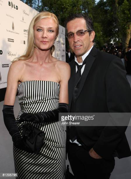 Actress Joely Richardson and amFAR Chairman Kenneth Cole arrives at amfAR's Cinema Against AIDS 2008 benefit held at Le Moulin de Mougins during the...