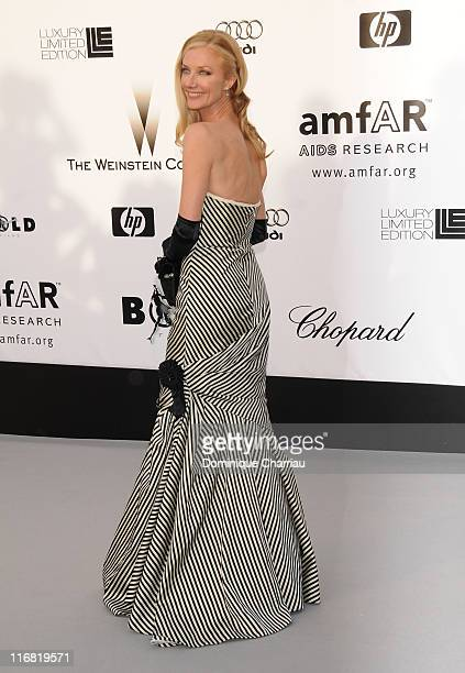Actress Joely Richardson arrives at amfAR's Cinema Against AIDS 2008 benefit held at Le Moulin de Mougins during the 61st International Cannes Film...