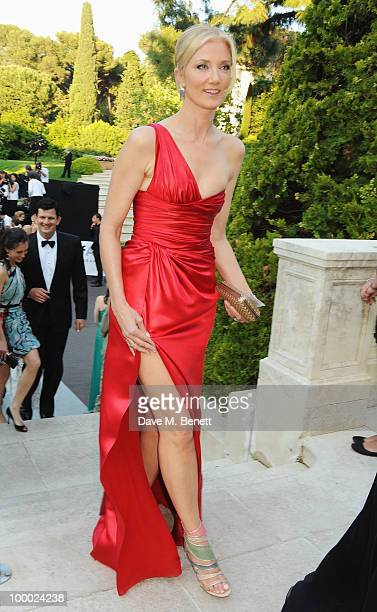 Actress Joely Richardson arrives at amfAR's Cinema Against AIDS 2010 benefit gala at the Hotel du Cap on May 20 2010 in Antibes France
