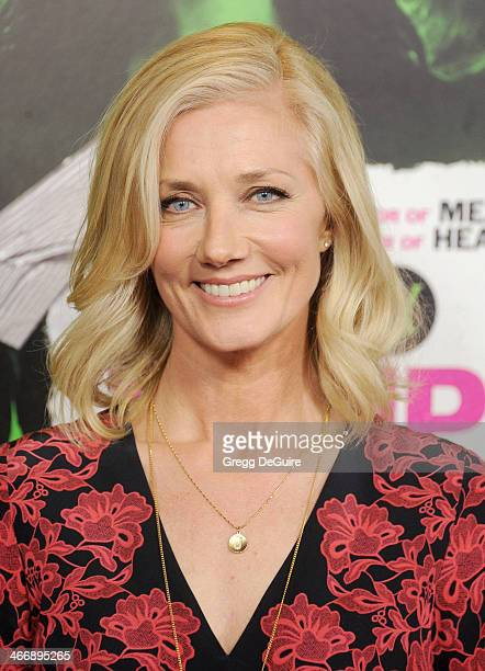 Actress Joely Richardson arrives at the Los Angeles premiere of 'Vampire Academy' at Regal Cinemas LA Live on February 4 2014 in Los Angeles...
