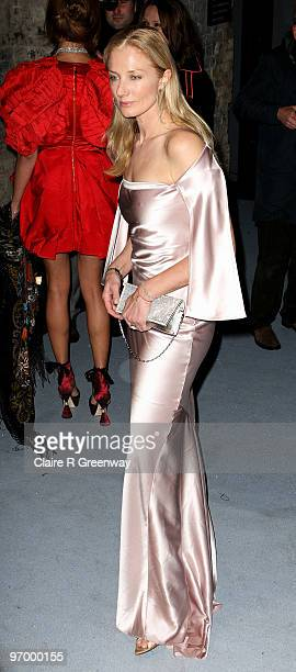 Actress Joely Richardson arrives at the Love Ball in aid of The Naked Heart Foundation at The Roundhouse on February 23 2010 in London England The...
