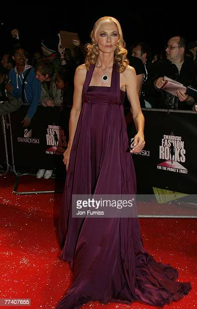 Actress Joely Richardson arrives at the Swarovski Fashion Rocks concert at the Royal Albert Hall on October 18 2007 in London England