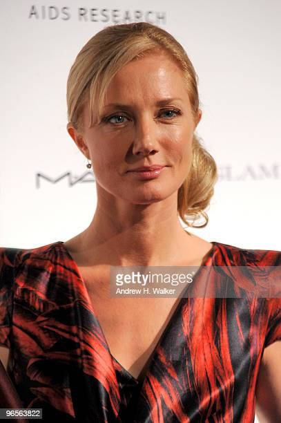 Actress Joely Richardson attends the amfAR New York Gala cosponsored by MAC Cosmetics to Kick Off Fall 2010 Fashion Week at Cipriani 42nd Street on...