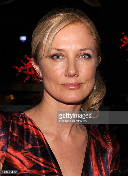 Actress Joely Richardson attends the amfAR New York Gala To Kick Off Fall 2010 Fashion Week at Cipriani 42nd Street on February 10 2010 in New York...