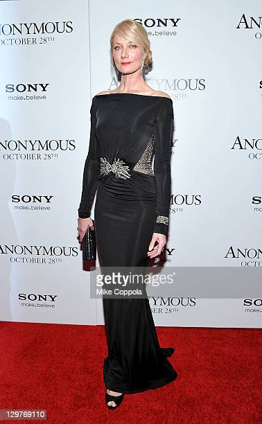 Actress Joely Richardson attends the Anonymous screening at the The Museum of Modern Art on October 20 2011 in New York City