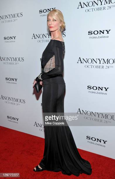 Actress Joely Richardson attends the 'Anonymous' screening at the The Museum of Modern Art on October 20 2011 in New York City
