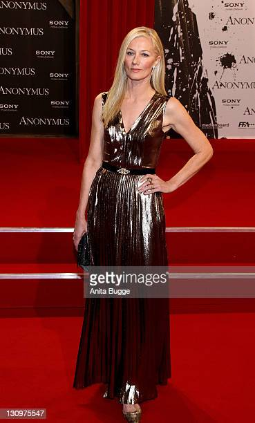 Actress Joely Richardson attends the 'Anonymus' Premiere at CineStar on October 30 2011 in Berlin Germany