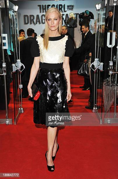 Actress Joely Richardson attends 'The Girl With The Dragon Tattoo' world premiere at Odeon Leicester Square on December 12 2011 in London England