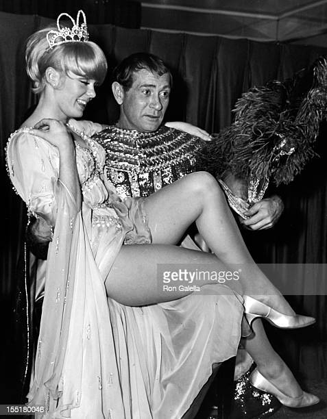 Actress Joey Heatherton and actor Darren McGavin attend A Celestial Fantasie Ball on November 19 1966 at the Biltmore Hotel in New York City