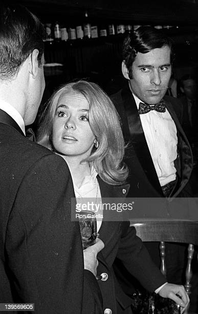 Actress Joey Heatherton and author Bruce Jay Friedman attend the grand opening of The Tarkington Club on May 13 1968 in New York City