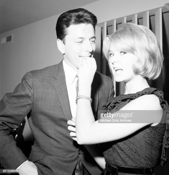 Actress Joey Heatherton with John Ashley at a party in Los Angeles California