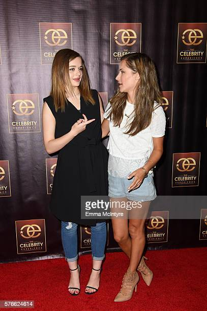 Actress Joey King and celebrity host Electra Formosa arrive at 'The Celebrity Experience QA Panel' at Hilton Universal Hotel on July 16 2016 in Los...