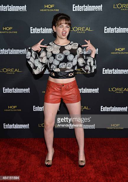 Actress Joey King arrives at the 2014 Entertainment Weekly PreEmmy Party at Fig Olive Melrose Place on August 23 2014 in West Hollywood California