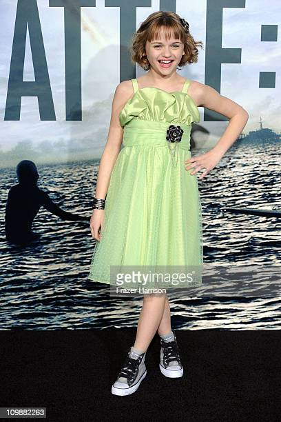 Actress Joey King arrives at the premiere of Columbia Pictures' Battle Los Angeles at the Regency Village Theater on March 8 2011 in Westwood...
