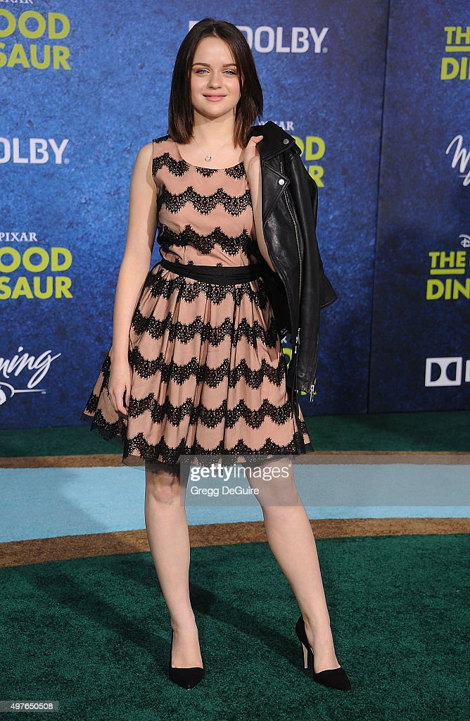 Actress Joey King arrives at the premiere of Disney-Pixar's 'The Good Dinosaur' on November 17, 2015 in Hollywood, California.