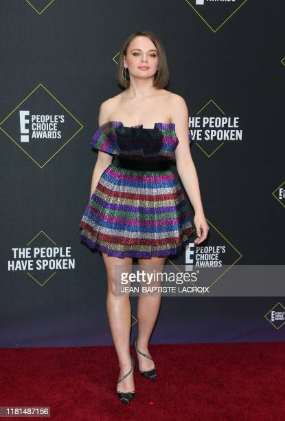 US actress Joey King arrives for the 45th annual E People's Choice Awards at Barker Hangar in Santa Monica California on November 10 2019