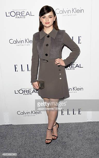 Actress Joey King attends the 22nd Annual ELLE Women in Hollywood Awards at Four Seasons Hotel Los Angeles at Beverly Hills on October 19 2015 in Los...