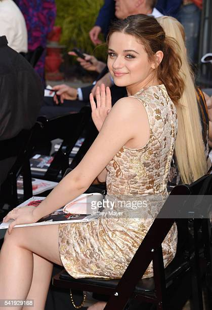 Actress Joey King attends the hand and footprint ceremony for Director Roland Emmerich at 20th Century Fox's 'Independence Day Resurgence' at TCL...