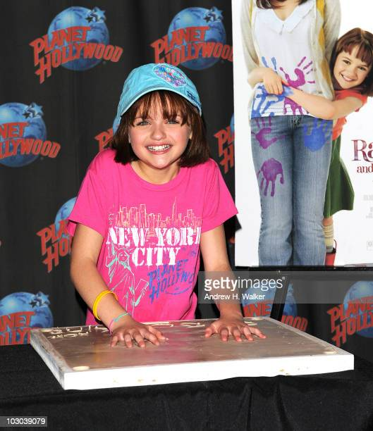 Actress Joey King promotes 'Ramona and Beezus' at Planet Hollywood Times Square on July 22 2010 in New York City