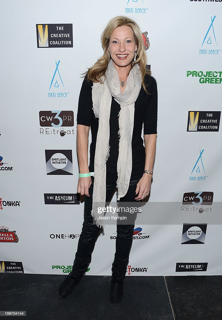 Actress Joey Lauren Adams attends the Creative Coalition's Sundance Film Festival: Passion...A Dinner Of Indie Chic at The Sky Lodge on January 18, 2013 in Park City, Utah.