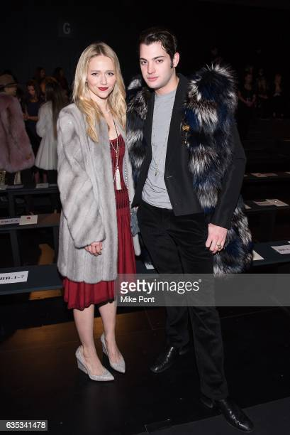 Actress Johanna Braddy attends the Dennis Basso collection during New York Fashion Week The Shows at Gallery 1 Skylight Clarkson Sq on February 14...