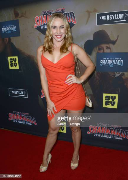 Actress Johanna Rae arrives for the Premiere Of The Asylum And Syfy's 'The Last Sharknado It's About Time' held at Cinemark Playa Vista on August 19...