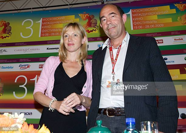 Actress Johanna ter Steege and film director Noud Heerkens attend a pressconference of the 'Last Conversation' movie during the 31st Moscow...