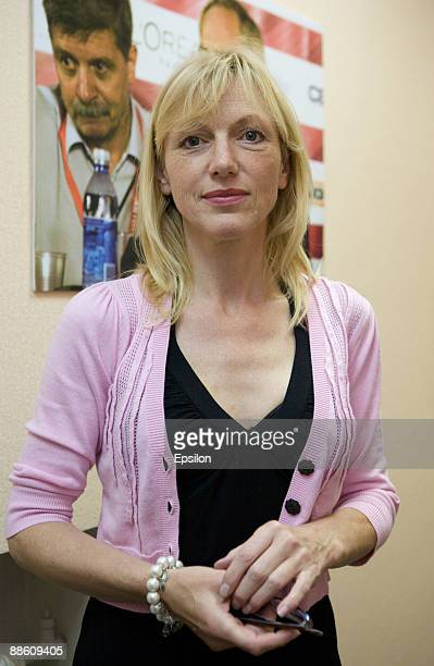 Actress Johanna ter Steege attends a pressconference of the 'Last Conversation' movie during the 31st Moscow International Film Festival at the...