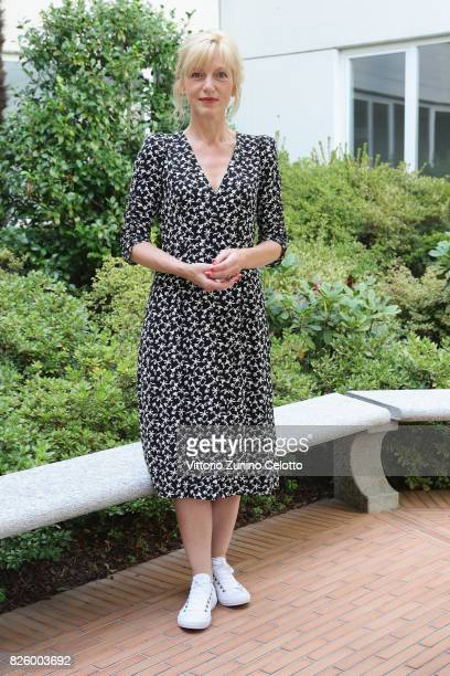 Actress Johanna ter Steege poses during the Cineasti del Presente Jury Photocall at the 70th Locarno Film Festival on August 3 2017 in Locarno...