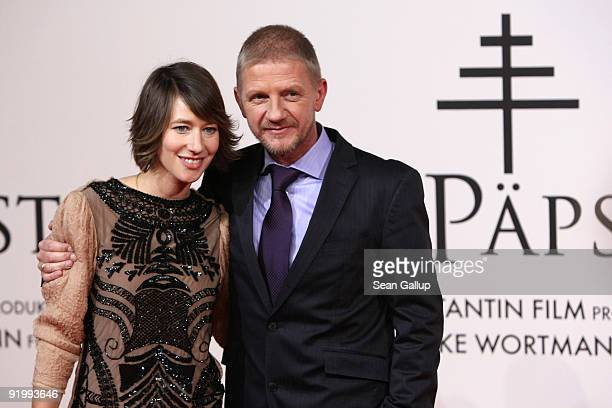 Actress Johanna Wokalek and director Soenke Wortmann attend the world premiere of 'Pope Joan' at the Sony Center CineStar on October 19 2009 in...